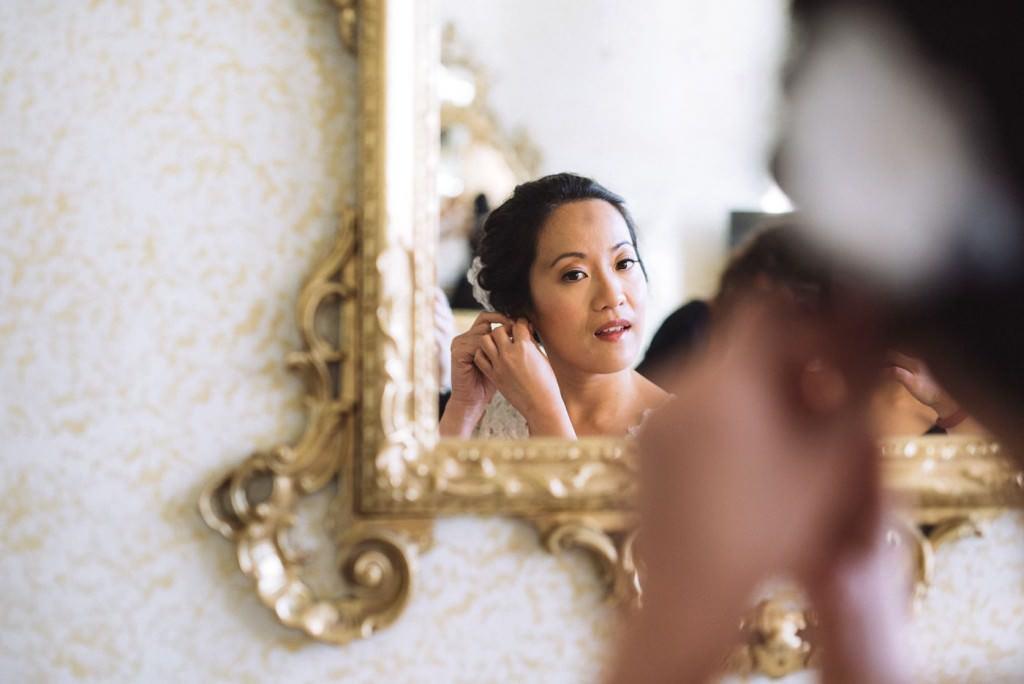 orecchini specchio sposa