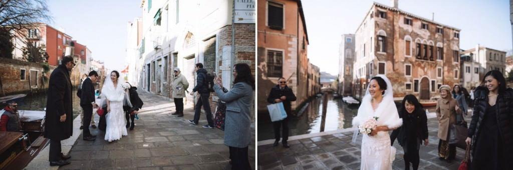 arrivo sposa chiesa venezia