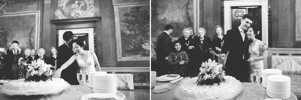 taglio torta nuziale matrimonio venezia