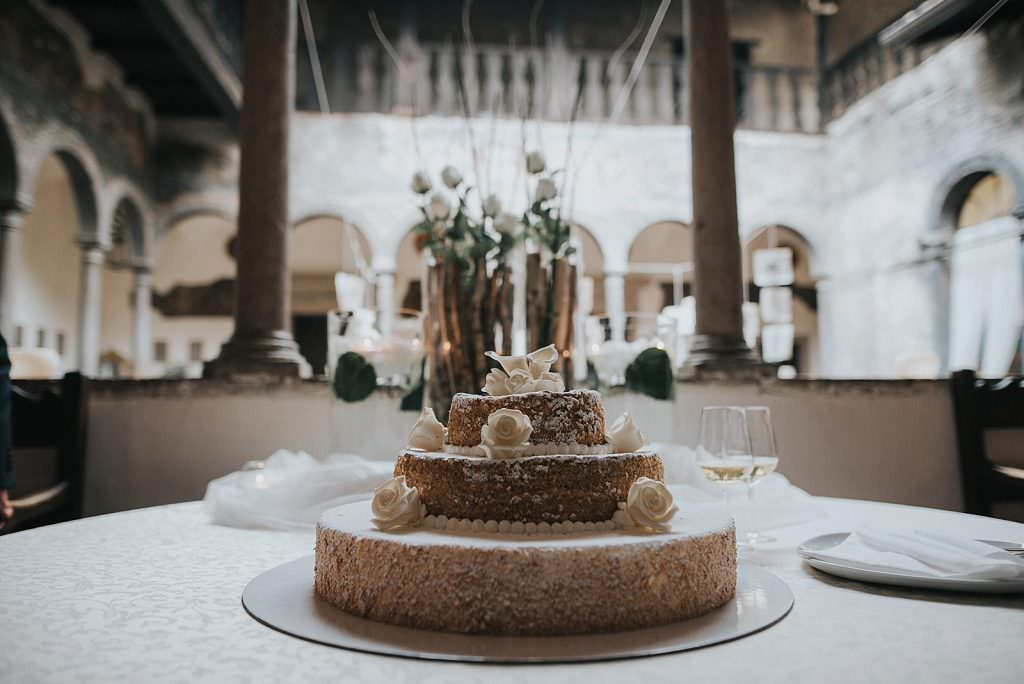 Wedding in trento cake