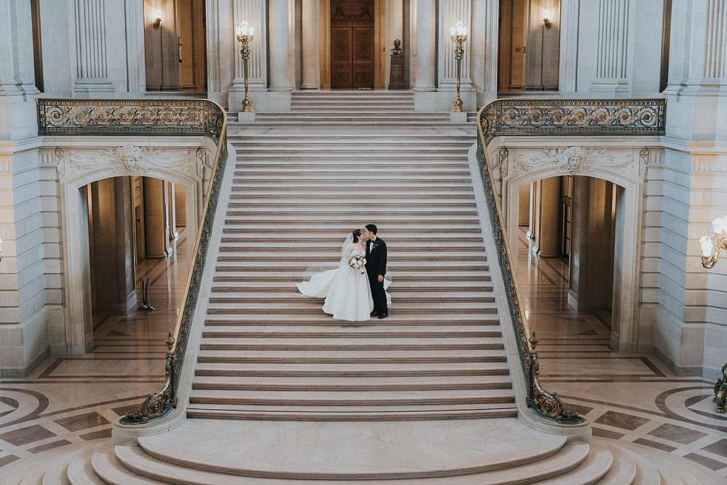 Wedding San Francisco stairs