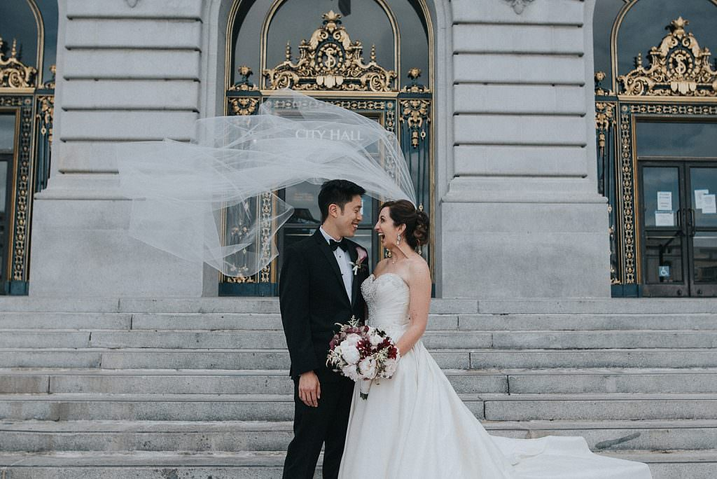 Wedding San Francisco wind